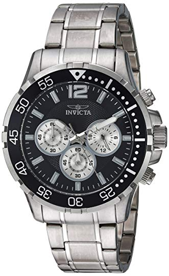 Invicta Men's 'Specialty' Quartz Stainless Steel Casual Watch, Color:Silver-Toned (Model: 23665)